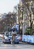骑自行车者Keizer Martijn-巴黎尼斯2013年序幕在Houilles 库存图片