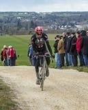 骑自行车者Laurens十水坝-巴黎好2016年 免版税库存照片
