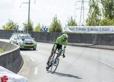骑自行车者Laurens十水坝-环法自行车赛2014年 免版税库存照片