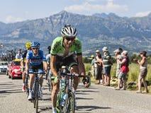 骑自行车者Laurens十水坝 免版税图库摄影