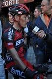 骑自行车者marco pinotti 免版税图库摄影