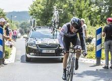 骑自行车者Markel Irizar -环法自行车赛2014年 库存照片