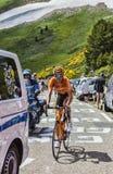 骑自行车者Mikel Astarloza 库存图片