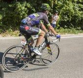 骑自行车者Mont Ventoux -环法自行车赛的弗洛里安Vachon 2016年 图库摄影
