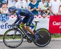 骑自行车者Nairo金塔纳-环法自行车赛2015年 免版税库存照片