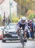 骑自行车者Niccolo Bonifazio -巴黎好2016年 图库摄影