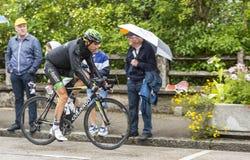 骑自行车者Perrig Quemeneur 免版税库存照片
