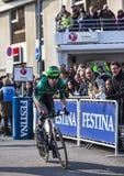 骑自行车者Pichot亚历山大巴黎尼斯2013年序幕在Houill 免版税库存照片