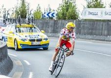 骑自行车者Rafal Majka 免版税库存图片