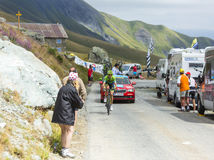 骑自行车者Ramunas Navardauskas -游览de法国2015年 免版税库存图片