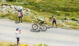 骑自行车者Ramunas Navardauskas -游览de法国2015年 库存图片