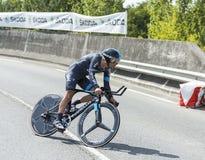 骑自行车者Richie Porte -环法自行车赛2014年 库存图片
