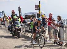 骑自行车者Richie Porte 免版税库存照片