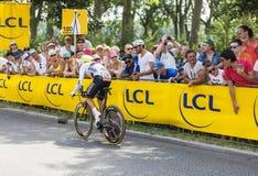 骑自行车者Rigoberto Uran Uran -环法自行车赛2015年 免版税库存图片