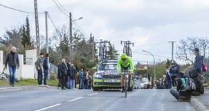 骑自行车者Wouter Wippert -巴黎好2016年 免版税图库摄影