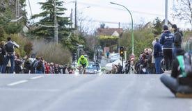 骑自行车者Wouter Wippert -巴黎好2016年 库存照片