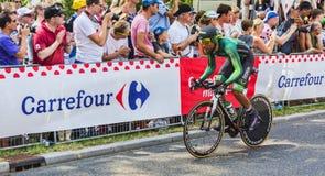 骑自行车者Yohann基因-环法自行车赛2015年 免版税库存照片