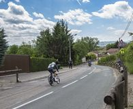 骑自行车者Youcef Reguigui - Criterium du杜法因呢2017年 免版税库存照片