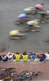 骑自行车赛跑 免版税库存图片