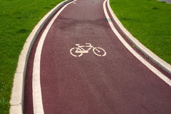 骑自行车路径 免版税库存照片