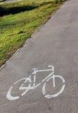 骑自行车路标 库存照片