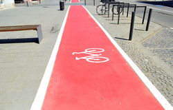 骑自行车路 图库摄影