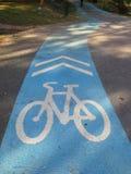 骑自行车车道, Hadyai,宋卡,泰国 免版税库存图片