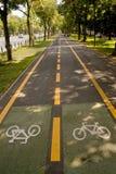 骑自行车运输路线 图库摄影