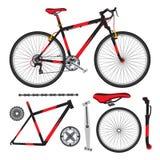 骑自行车,自行车零件,辅助部件,细节,生态车  库存图片