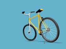 骑自行车黄色 免版税库存图片