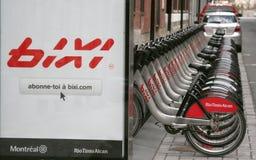 骑自行车bixi 库存图片