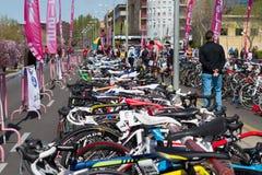 骑自行车duahtlon 免版税库存照片