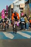 骑自行车duathlon我托莱多 免版税库存图片