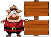 骑警队员符号 免版税库存照片