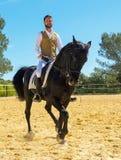 骑马人训练  免版税图库摄影
