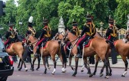 骑马卫兵伦敦英国 免版税库存图片