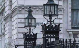 骑马卫兵游行入口伦敦 库存照片