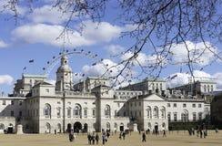 骑马卫兵游行,伦敦 免版税图库摄影