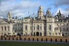 骑马卫兵游行-伦敦-英国 免版税库存图片