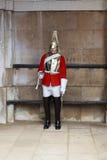 骑马卫兵的被卸下的卫兵,伦敦 库存照片