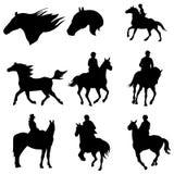 骑马向量 免版税库存图片