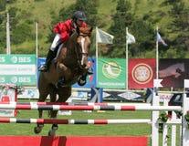 骑马国际跳的显示 免版税库存照片