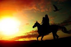 骑马家 库存照片