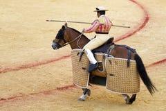 骑马斗牛士在塞维利亚 图库摄影