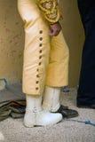 骑马斗牛士的制服的细节 库存图片