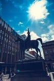 骑马的惠灵顿公爵雕象, 免版税库存图片