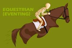 骑马者的概念有木人的时装模特的 库存照片