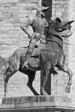 骑马雕塑 库存照片