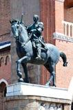骑马雕象Gattamelata Donatello,帕多瓦,意大利 免版税图库摄影