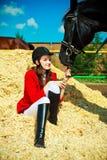 骑马 库存图片